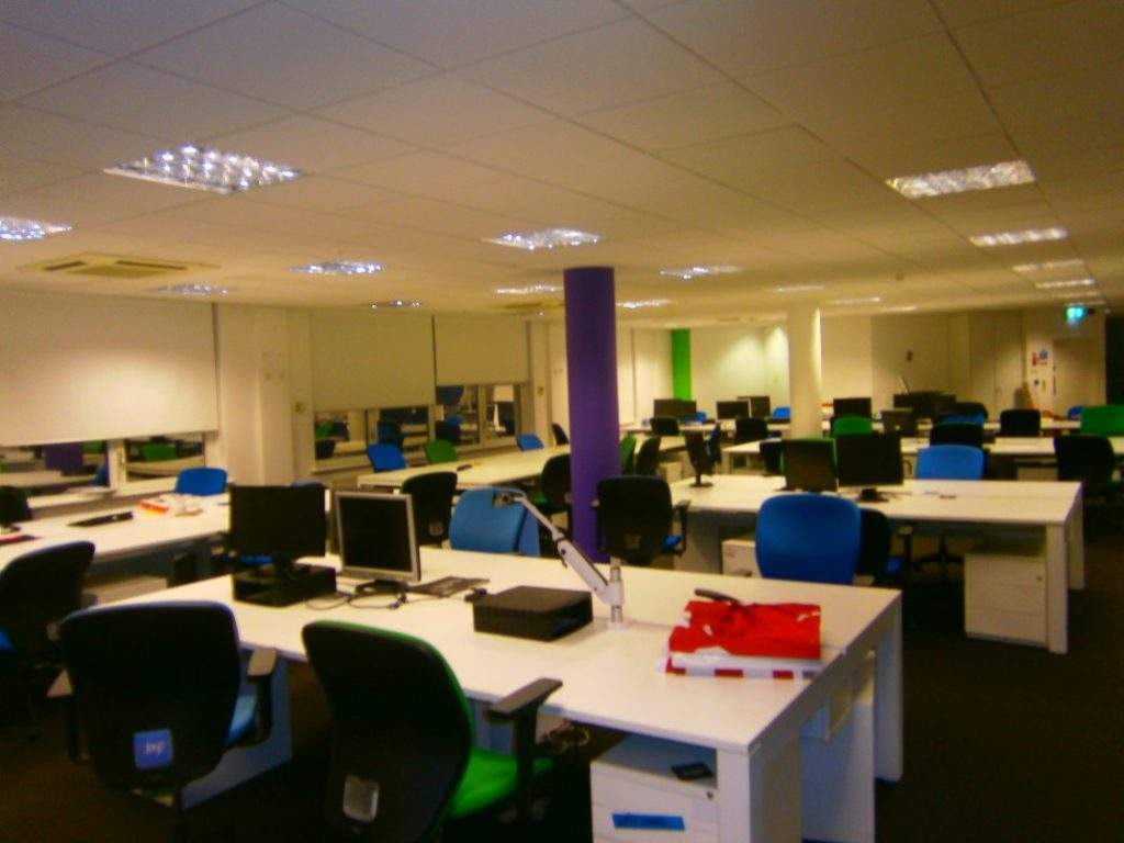 removal of office partitions  and refurb 01